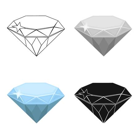 Gem diamond. A valuable prize in the casino.Kasino single icon in cartoon style vector symbol stock illustration.