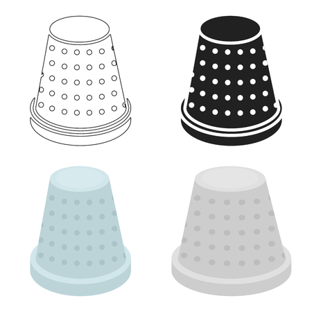 Thimble icon of vector illustration for web and mobile