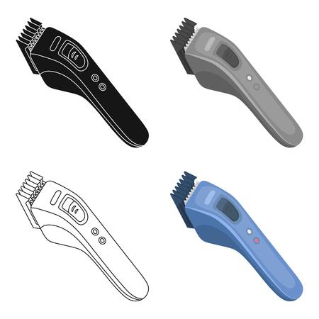 Tondeuse à cheveux électrique. Barberhop unique icône en style cartoon vecteur symbole stock illustration web.