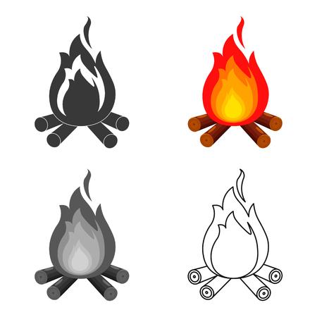 Lagerfeuer mit Brennholz Symbol Vektor-Illustration für das Web und mobile Standard-Bild - 76954254