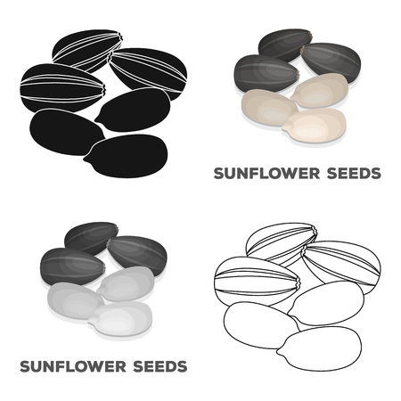 Sunflower seeds.Different kinds of nuts single icon in cartoon style vector symbol stock illustration.