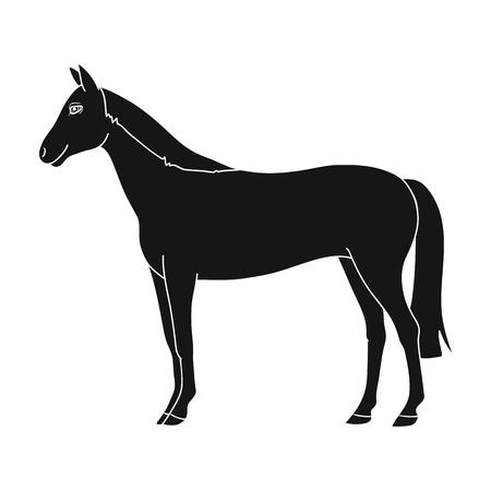 Horse.Animals single icon in black style vector symbol stock illustration web. Illustration