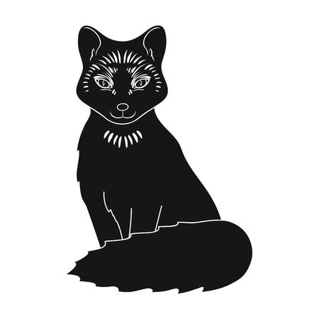 Red fox.Animals single icon in black style vector symbol stock illustration web.