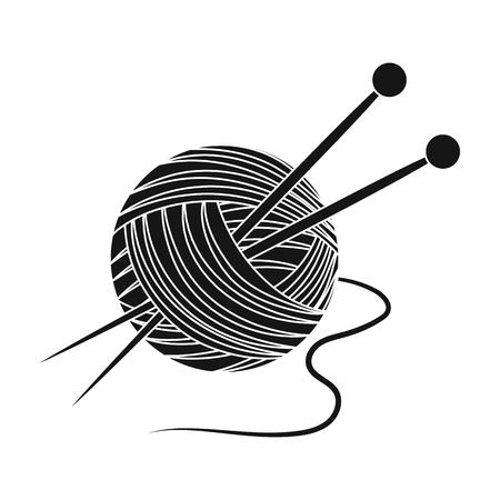 Knitting.Old age single icon in black style vector symbol stock illustration web. Иллюстрация