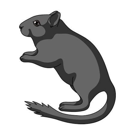 Grey gerbil.Animals unique icône en vecteur de bande dessinée style symbole stock illustration web.