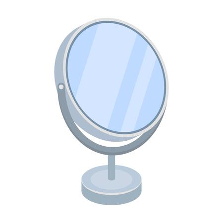reflection in mirror: Desk mirror.Barbershop single icon in cartoon style vector symbol stock illustration web.