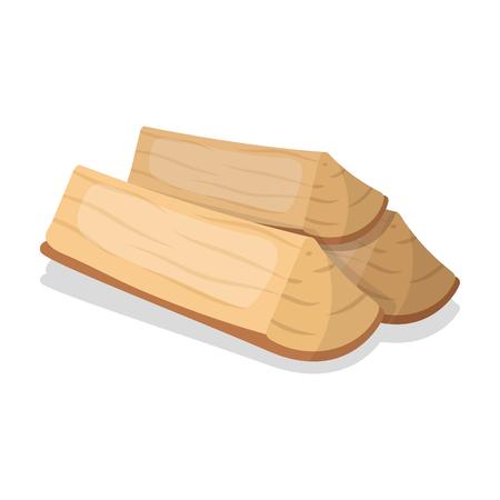 Chopped firewood.BBQ icono único en estilo de dibujos animados símbolo de vectores stock photography web. Ilustración de vector