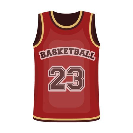 Basketball jersey.Basketball single icon in cartoon style vector symbol stock illustration web.