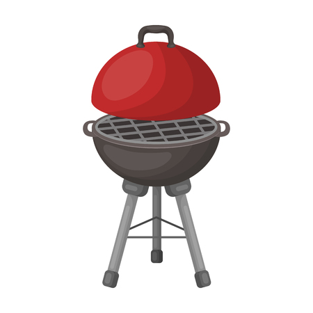 Grill for barbecue.BBQ single icon in cartoon style vector symbol stock illustration web. Фото со стока - 77163598