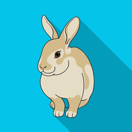 Gray rabbit.Animals single icon in flat style vector symbol stock illustration web.