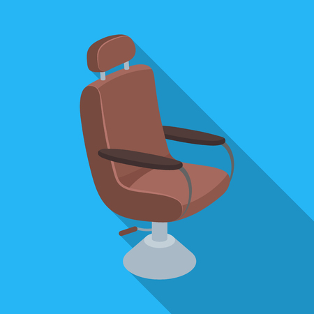 Armchair.Barbershop single icon in flat style vector symbol stock illustration web. Illustration
