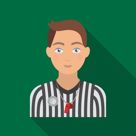 Basketball referee. Basketball single icon in flat style vector symbol stock illustration web.