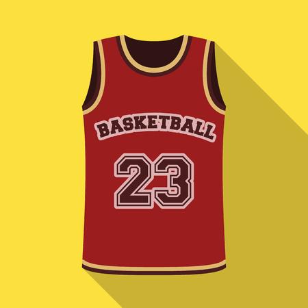 Basketball jersey. Basketball single icon in flat style vector symbol stock illustration web.