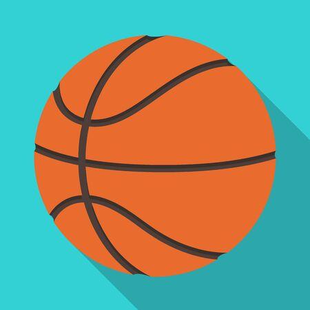 Basketball.Basketball single icon in flat style vector symbol stock illustration web.