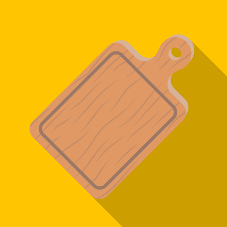 Cutting board. BBQ single icon in flat style vector symbol stock illustration web.
