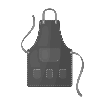 Apron of a hairdresser with pockets.Barbershop single icon in monochrome style vector symbol stock illustration web.