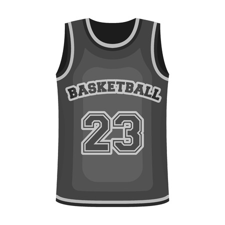 jersey: Basketball jersey.Basketball single icon in monochrome style vector symbol stock illustration web.