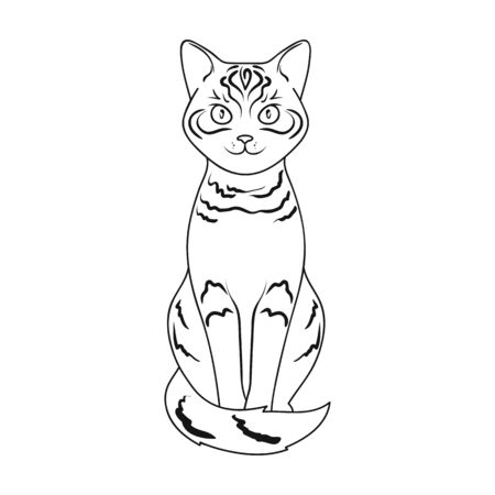 grey cat: Gray cat.Animals single icon in outline style vector symbol stock illustration web.