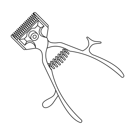 Mechanical hair clipper.Barbershop single icon in outline style vector symbol stock illustration web.
