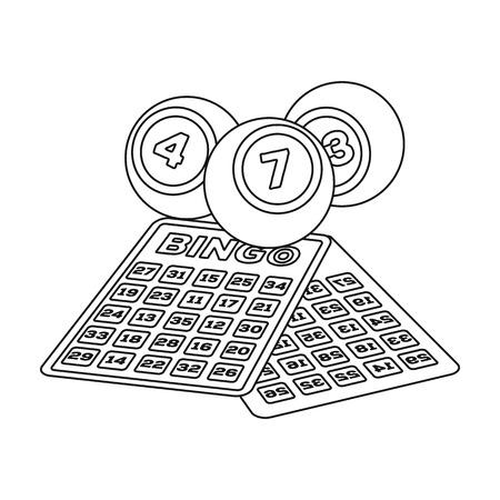 Lottery.Old seule icône dans le style de contour vecteur symbole stock illustration web. Illustration