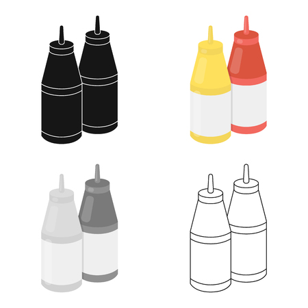 handful: Sauce vector icon in cartoon style for web Illustration