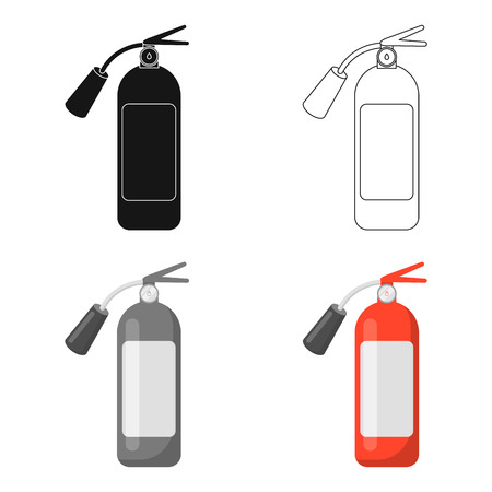 Fire extinguisher icon cartoon. Single silhouette fire equipment icon from the big fire Department cartoon - stock vecto - stock vecto - stock vecto - stock vector