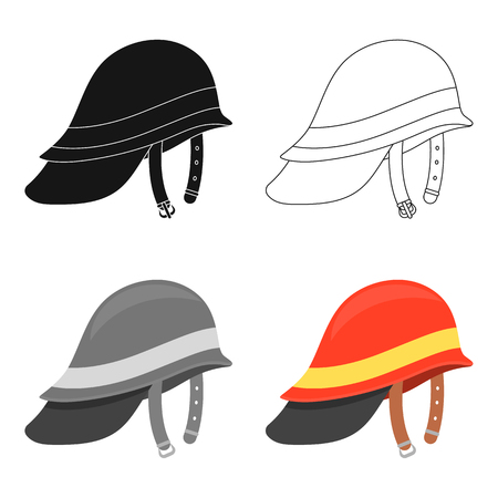 Firefighter Helmet icon cartoon. Single silhouette fire equipment icon from the big fire Department cartoon. Illustration