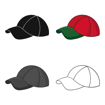 Golf cap icon in cartoon style isolated on white background. Golf club symbol stock vector illustration. Çizim