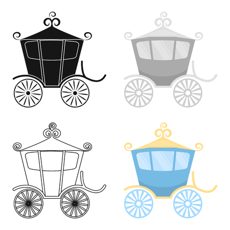 chariot: Carriage icon of vector illustration for web and mobile