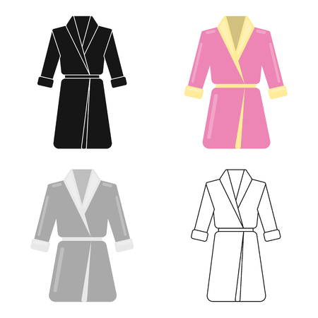 Bathrobe icon of vector illustration for web and mobile design