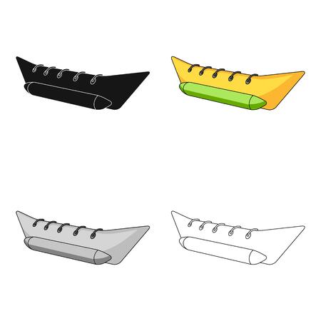Water attraction banana.Summer rest single icon in cartoon style vector symbol stock web illustration.