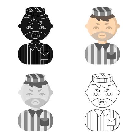 imprisoned person: Prisoner cartoon icon. Illustration for web and mobile. Illustration