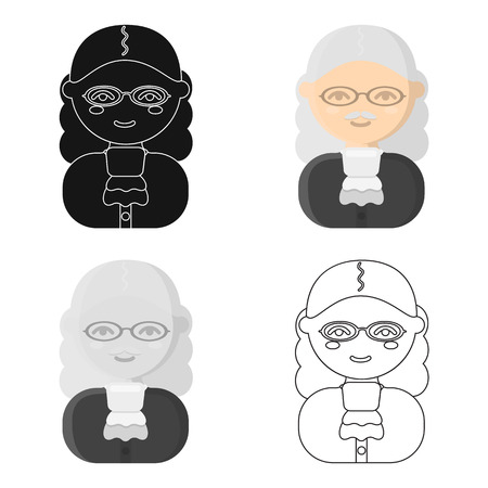 courthouse: Judge cartoon icon. Illustration for web and mobile design.
