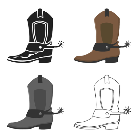 Cowboy boot icon cartoon. Singe western icon from the wild west cartoon.