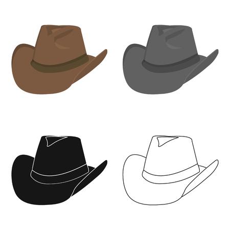 Cowboy hat icon cartoon. Singe western icon from the wild west cartoon. Illustration