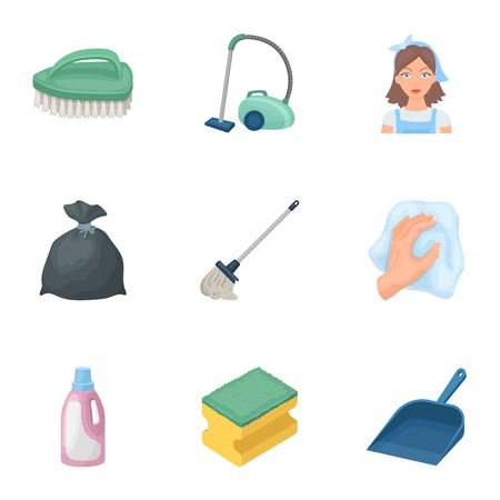 Cleaning, washing and everything connected with it. A set of icons for cleaning.