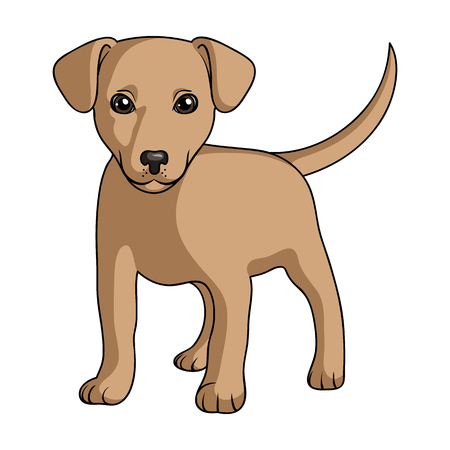 Puppy labrador.Animals single icon in cartoon style rater,bitmap symbol stock illustration web. Stock Photo