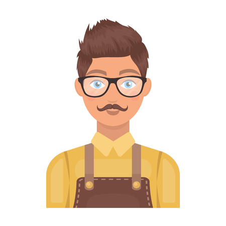 male grooming: Male hairdresser.Barbershop single icon in cartoon style rater,bitmap symbol stock illustration web.