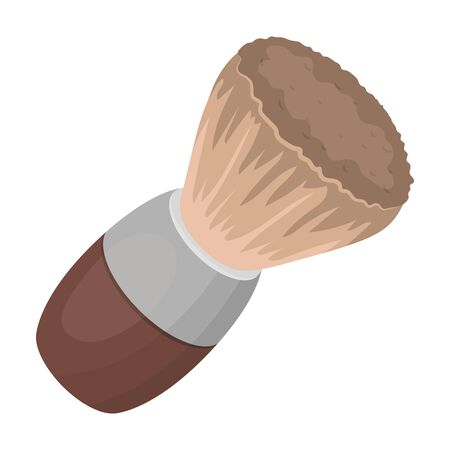 Shaving brush.Barbershop single icon in cartoon style rater,bitmap symbol stock illustration web. Stock Photo