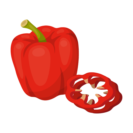 Bell pepper. single icon in cartoon style rater,bitmap symbol stock illustration web.