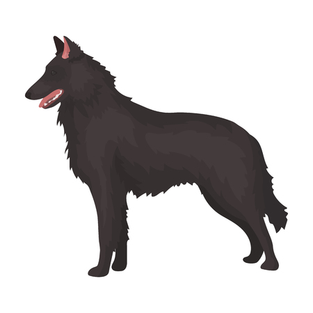 The dark Belgian wolf. single icon in cartoon style rater,bitmap symbol stock illustration.
