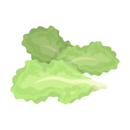 サラダの葉。ハンバーガーや食材は単一ビットマップ シンボル ストック イラスト漫画スタイル評価者のアイコンです。 写真素材