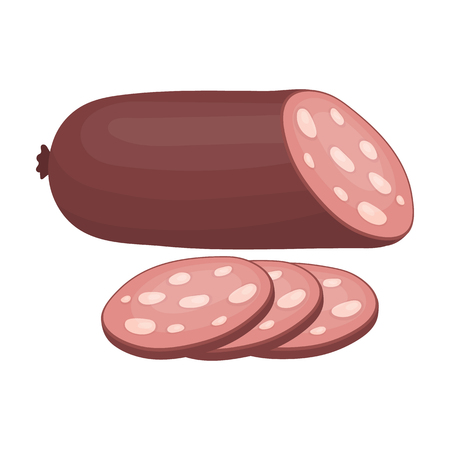 Sausage Sliced.Burgers and ingredients single icon in cartoon style rater,bitmap symbol stock illustration.