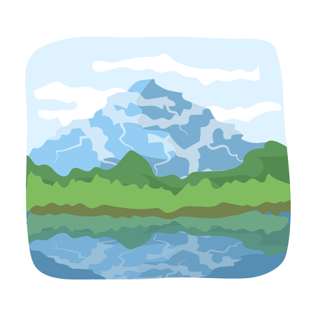 hiking: Canadian waterfall. Canada single icon in cartoon style rater,bitmap symbol stock illustration web. Stock Photo