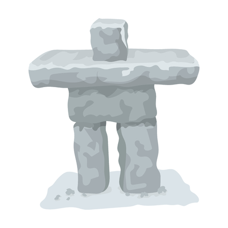 Stone sculpture in canada. single icon in cartoon style rater,bitmap symbol stock illustration web.