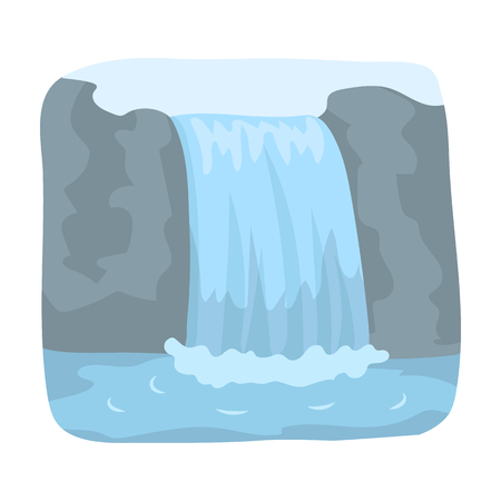 the edge of horseshoe falls: waterfall. single icon in cartoon style rater,bitmap symbol stock illustration web.