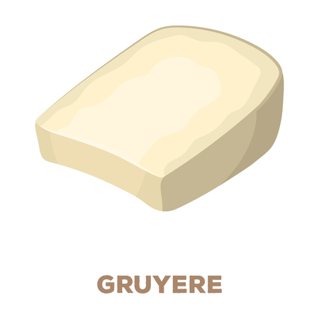flavorful: Gruyere.Different kinds of cheese single icon in cartoon style rater,bitmap symbol stock illustration web.