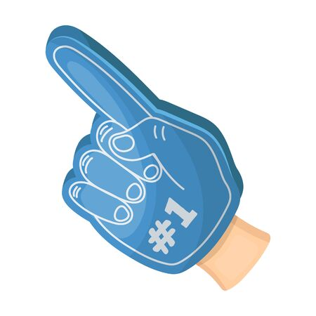 Number one is the fans glove.Fans single icon in cartoon style rater,bitmap symbol stock illustration. Stock Photo