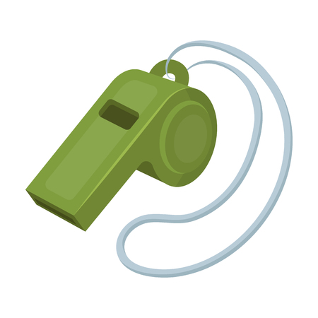 Whistle football fan.Fans single icon in cartoon style rater,bitmap symbol stock illustration.