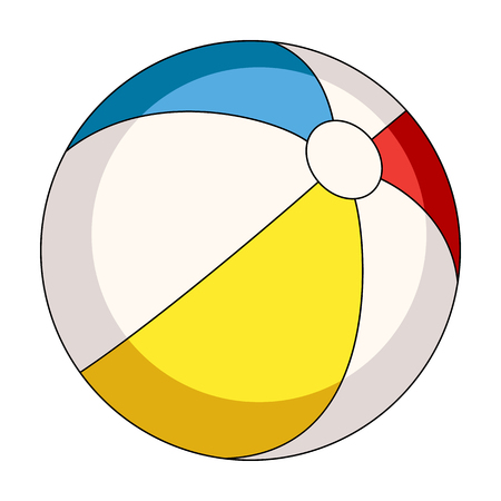 Inable multicolored ball.Summer rest single icon in cartoon style rater,bitmap symbol stock illustration.